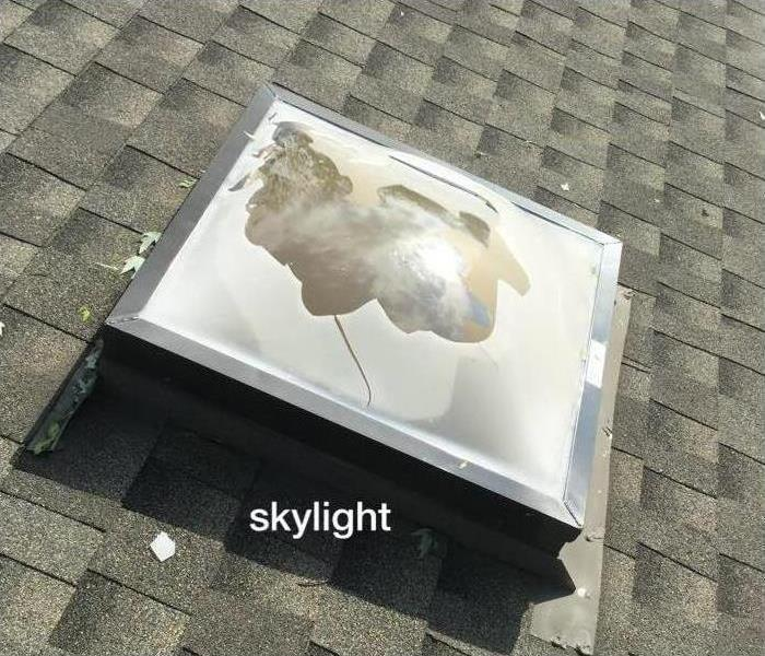skylight broken from hail